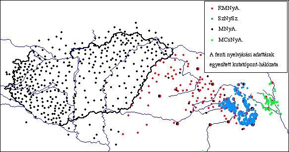 nyelvjárások térkép Geolingvisztikai Mûhely   Térképek