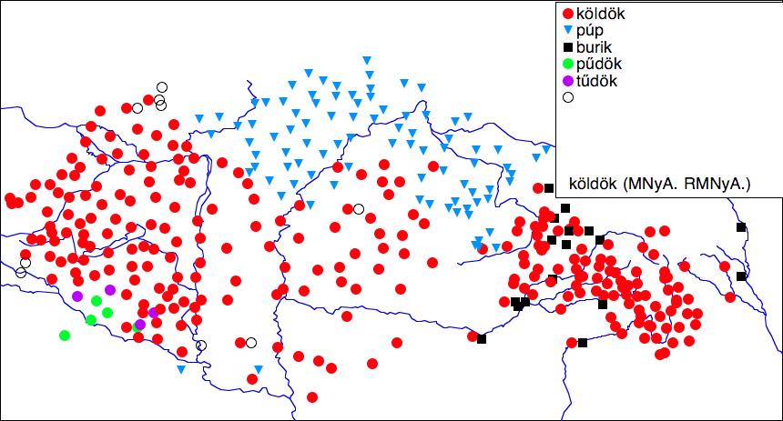 nyelvjárások térkép Nyelvjárási térkép